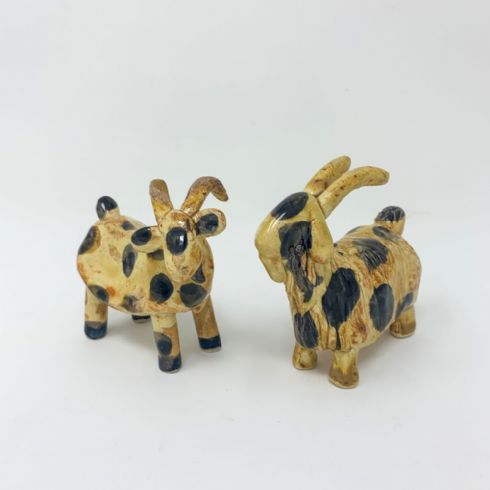 Trevor Woods (Mount Ida Pottery) - Little Ceramic Goat Sculptures